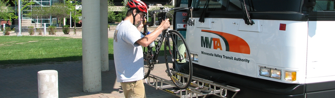 MVTA Bus with bike rack