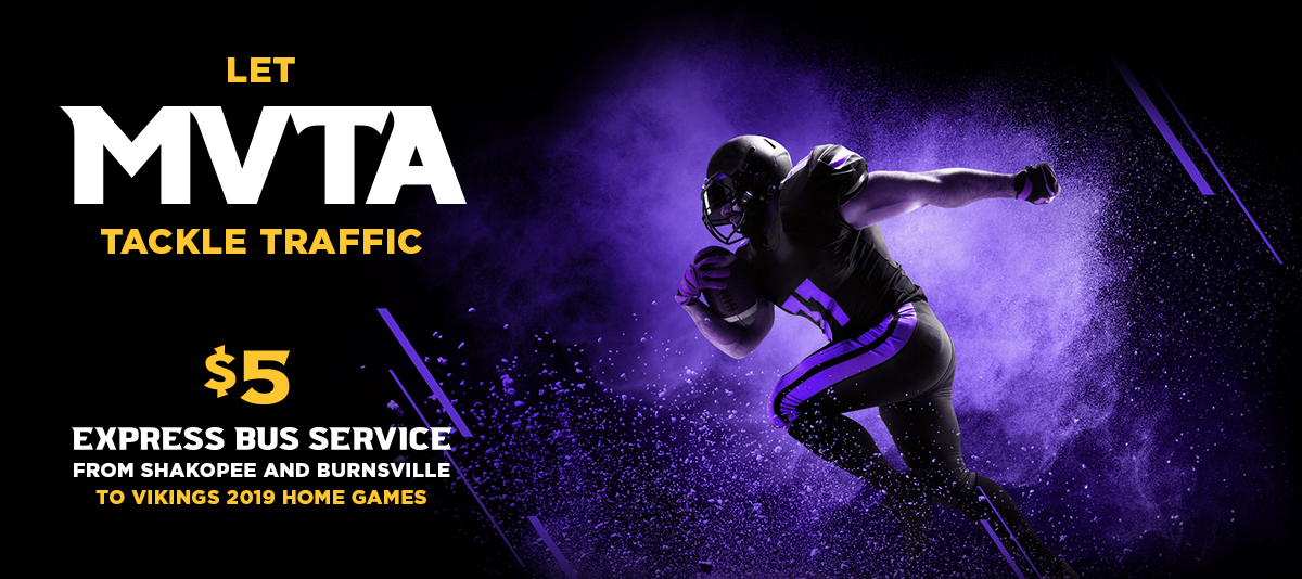 Five Dollar Express Bus Service to Minnesota Vikings Games from MVTA
