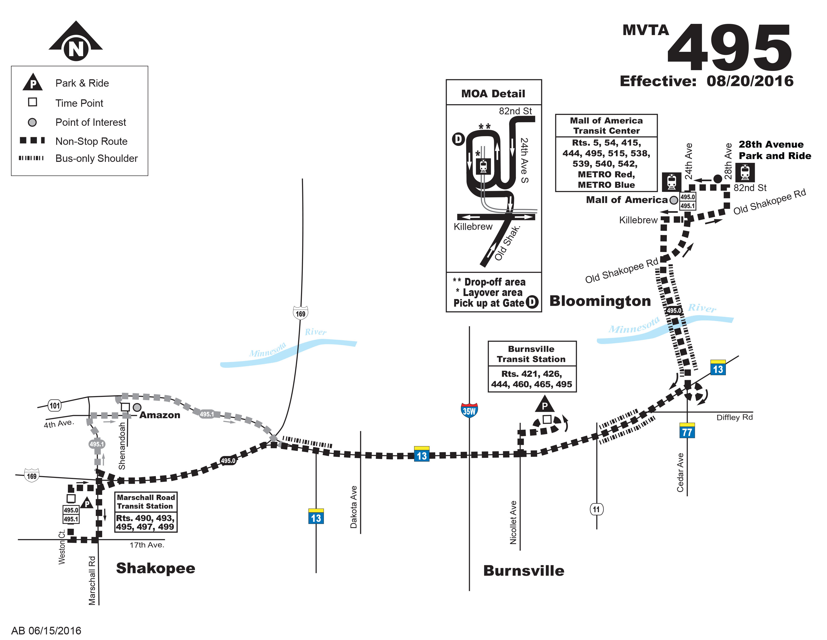 Route 495 map