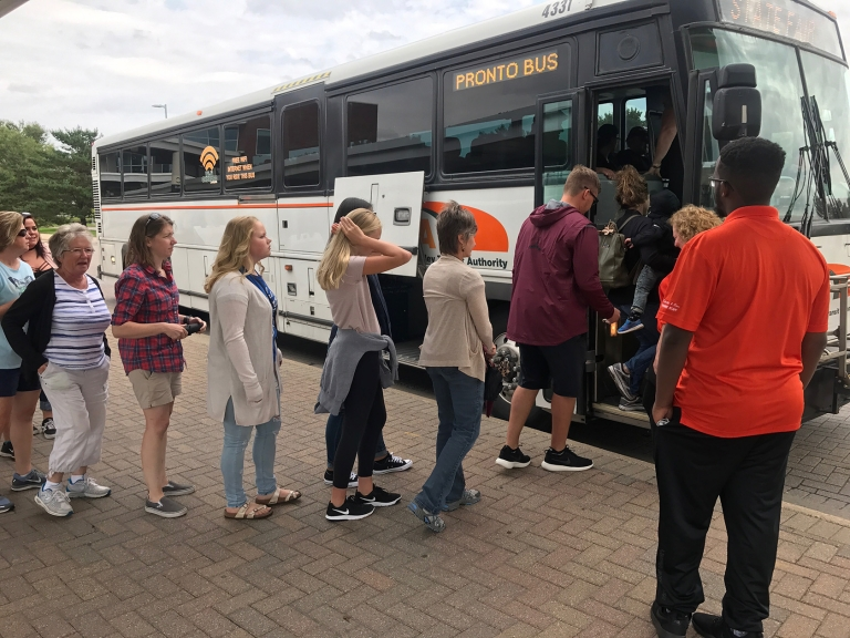 A record number of customers traveled via MVTA Pronto Buses to get to the 2017 Minnesota State Fair.