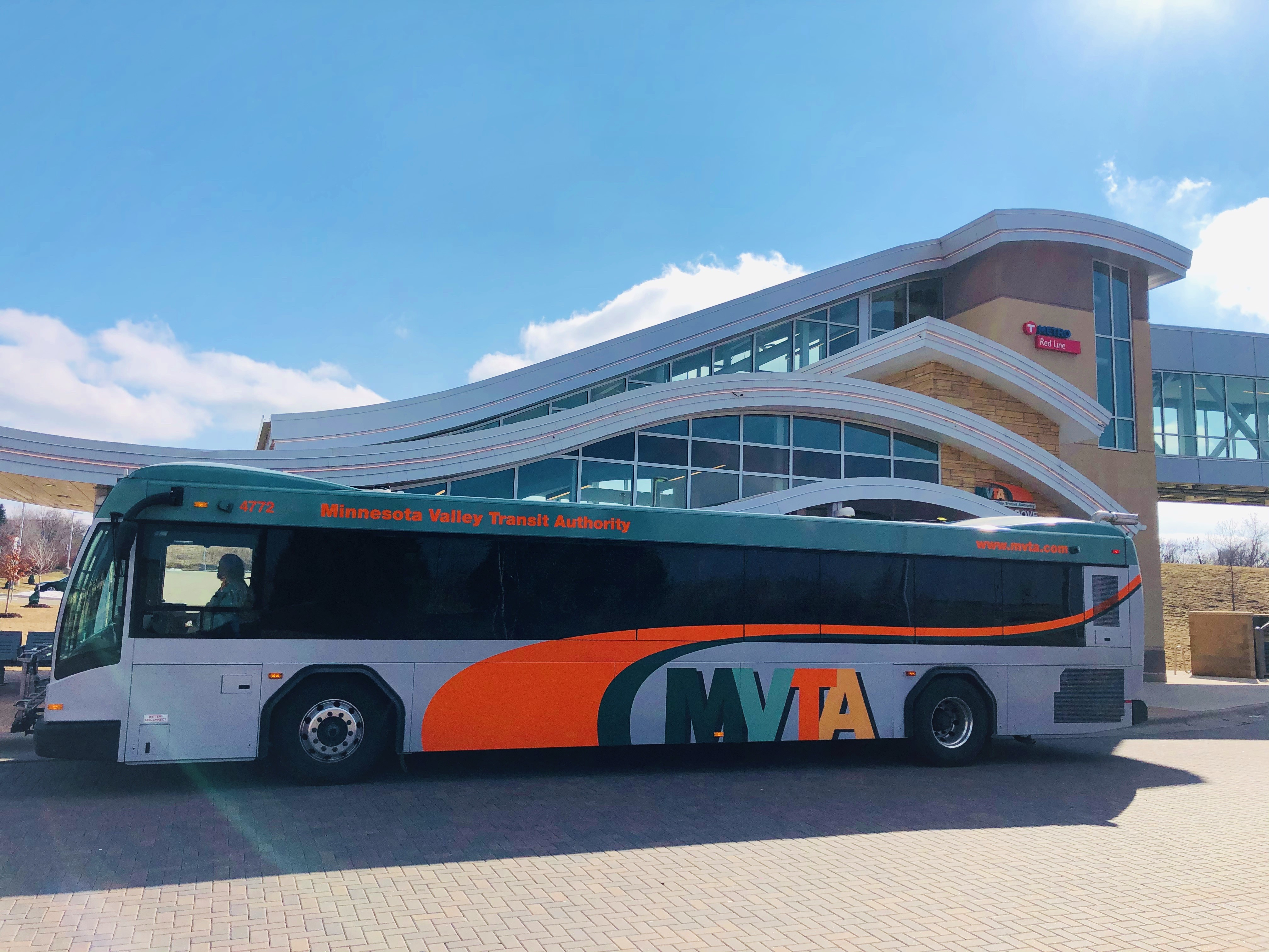 Cedar Grove Transit Station is located on Nicols Road near Cedar Grove Parkway, within walking distance of Twin City Premium Outlets. Red Line buses pick up/drop off passengers at the 'online' station on Cedar Avenue. All other MVTA buses utilize the station located on Nicols.