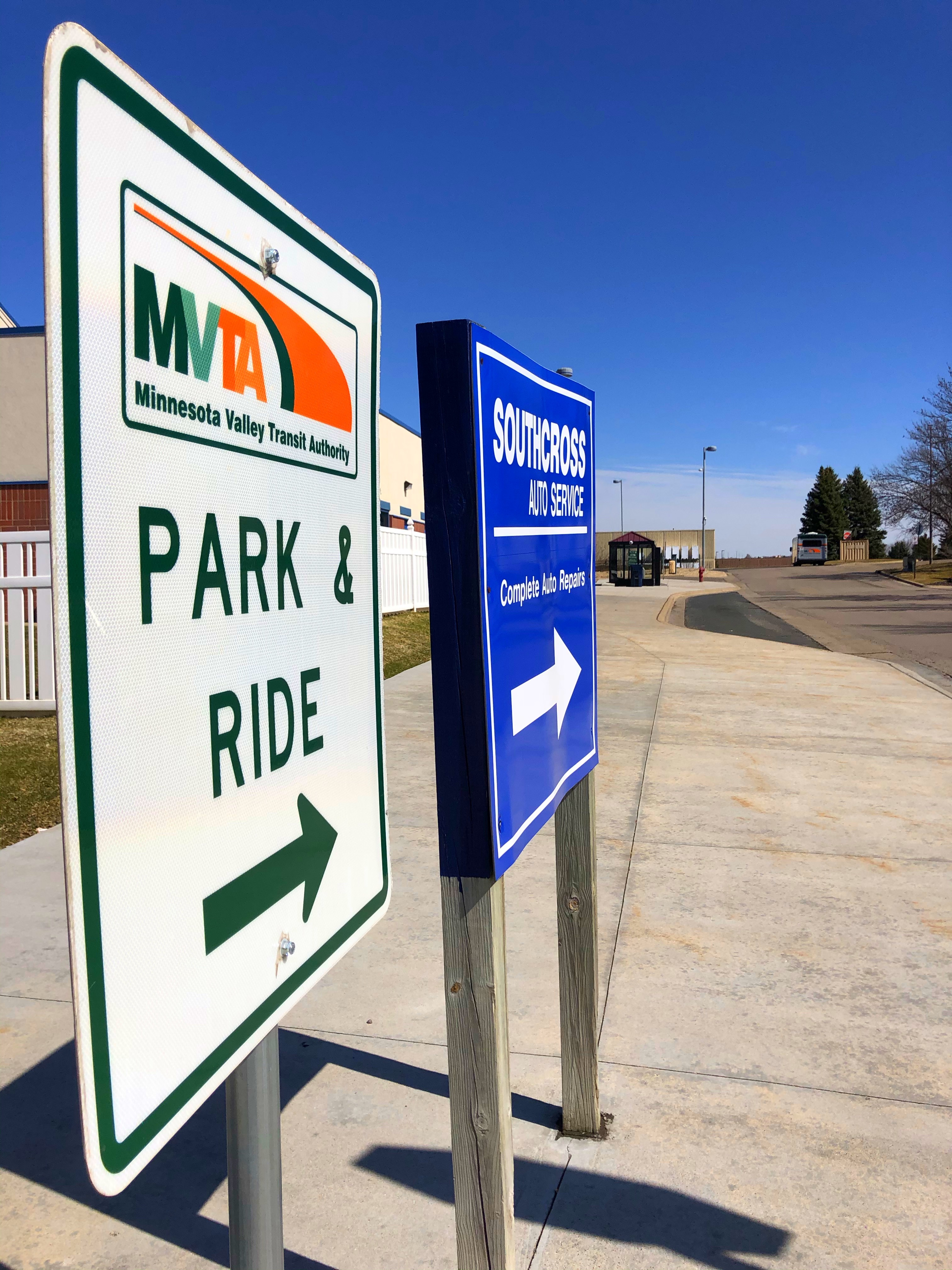 Savage Park & Ride is located just northeast of the intersection at County Road 42 & Huntington Avenue in Savage, behind McDonald's restaurant.